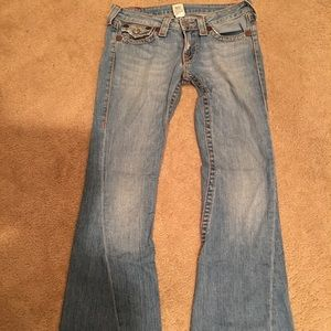 True Religion low rise flare Jean